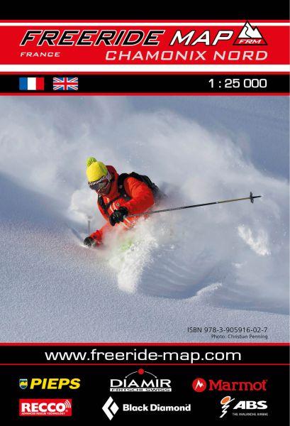 Freeride Map Chamonix Nord, Skitourenkarte 1:25.000