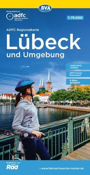 ADFC-Regionalkarte, Lübeck und Umgebung, Radwanderkarte