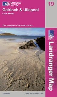 Landranger 19 Gairloch & Ullapool Wanderkarte 1:50.000 - OS / Ordnance Survey