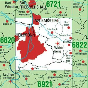 6821 HEILBRONN A.N. topographische Karte 1:25.000 Baden-Württemberg, TK25