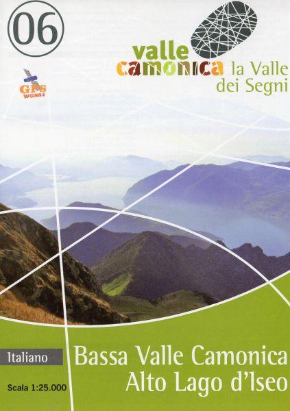 Wanderkarte 06 für Bassa Valle Camonica - Alto Lago d'Iseo im Maßstab 1:25.000, Ingenia