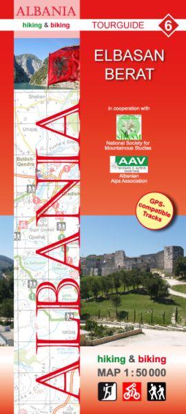 6 Elbasan - Berat: Albanien Wander- und Radwanderkarte 1:50.000