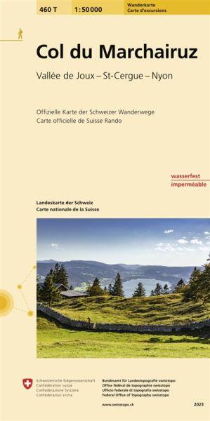 460 T Col du Marchairuz topografische Wanderkarte Schweiz 1:50.000 - Swisstopo