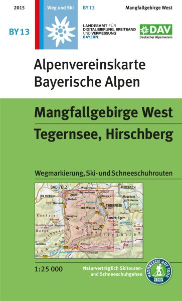 Alpenvereinskarte BY13 Mangfallgebirge West Wanderkarte 1:25.000