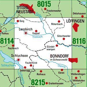 8115 LENZKIRCH topographische Karte 1:25.000 Baden-Württemberg, TK25