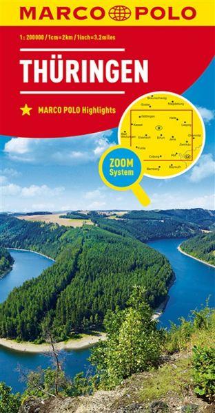 Thüringen Straßenkarte 1:200.000, Marco Polo Bl. 07