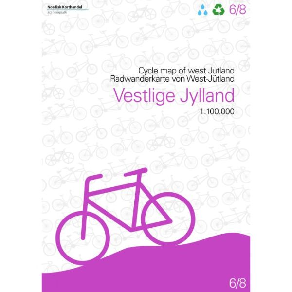 West-Jütland Radwanderkarte (Dänemark) 1:100.000 Bl. 6/8 Nordisk Korthandel