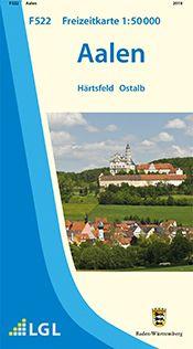 Aalen Freizeitkarte in 1:50.000 - F522 mit Rad- und Wanderwegen
