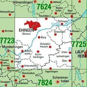 7724 EHINGEN (DONAU) topographische Karte 1:25.000 Baden-Württemberg, TK25