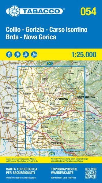 Tabacco 054 Collio - Brda - Gorizia Wanderkarte 1:25.000