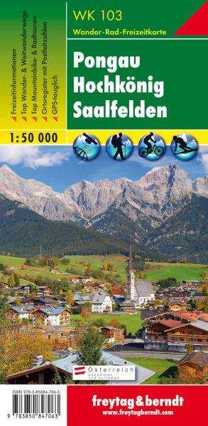 WK 103, Pongau, Hochkönig, Saalfelden, Wanderkarte 1:50.000, Freytag und Berndt