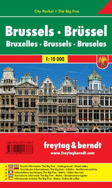 Brüssel, Stadtplan 1:10.000, Freytag und Berndt