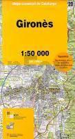 Girones, Katalonien topographische Karte, 1:50.000, ICC 20