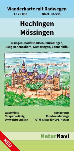 Hechingen & Mössingen 1:25.000 Wanderkarte mit Radwegen – NaturNavi Bl. 50-536