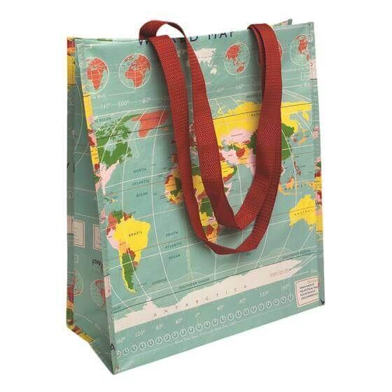 """Einkaufstasche im Landkarten-Design """"World Map"""" von Rex International"""