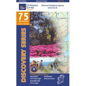 OSI 75 Kilkenny, Tipperary, Waterford (NORTH) Wanderkarte 1:50.000