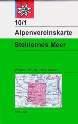 DAV Alpenvereinskarte 10/1 Steinernes Meer, Ski- und Wanderkarte 1:25.000