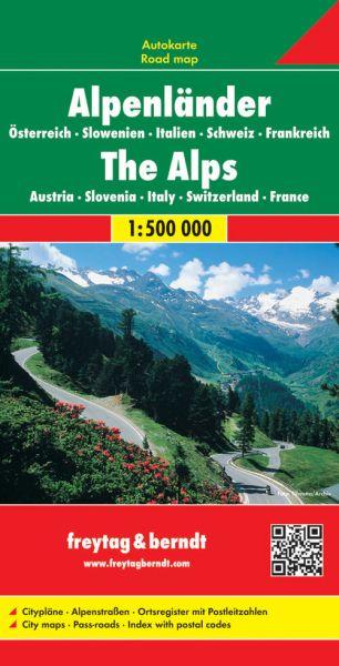 Alpenländer, Straßenkarte 1:500.000, Freytag und Berndt