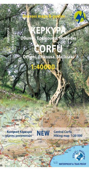 Korfu Wanderkarte 1:40.000, Anavasi Blatt 9.4, Griechenland, wetterfest