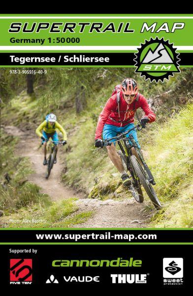 Supertrail Map Tegernsee / Schliersee MTB-Karte 1:50.000 (STM)