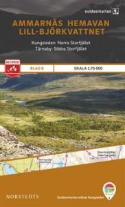 Ammarnäs - Hemavan - Lill - Björkvattnet, Outdoorkartan Blatt 6, Schweden Wanderkarte 1:75.000