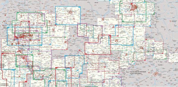 Kompass Karten Set 833 Eifel 4 Karten Wanderkarte Radkarte