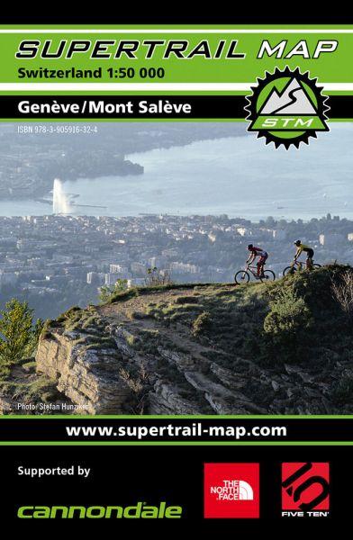 Supertrail Map Geneve /Mont Saleve Mountainbikekarte, 1:50T, Wasser- und reißfest (STM)