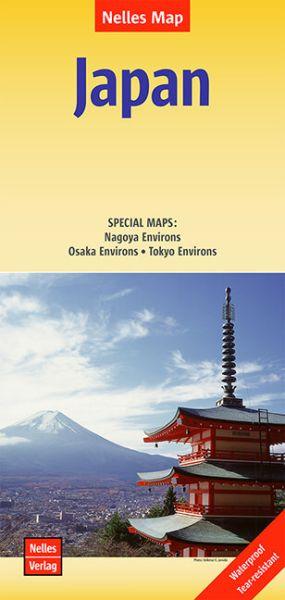 Nelles Maps, Japan Landkarte 1:1.500.000, wasser- und reissfest