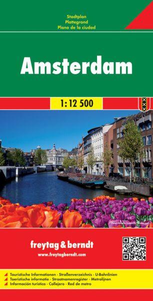 Amsterdam, Stadtplan 1:12.500, Freytag und Berndt
