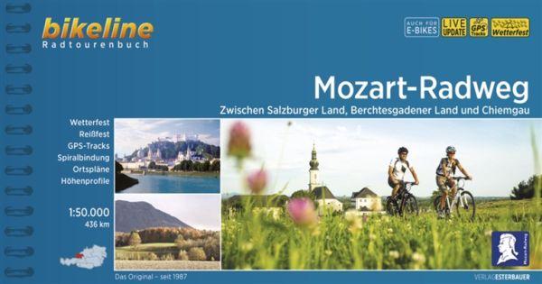 Mozart-Radweg, Bikeline Radwanderführer mit Karte, Esterbauer