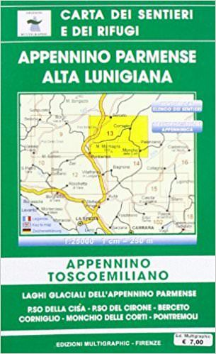 Edition Multigraphic, Appennino Parmense Alta Lunigiana Blatt 13, Toskana/Emilia, 1:25.000