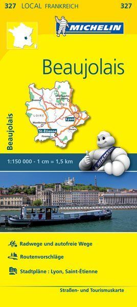 Michelin local 327 Beaujolais Straßenkarte 1:150.000