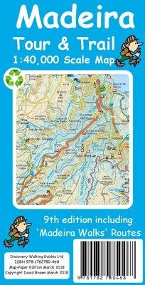 Madeira Wanderkarte 1:40.000: Madeira Tour & Trail Map, Discovery Walking Guides Ltd.