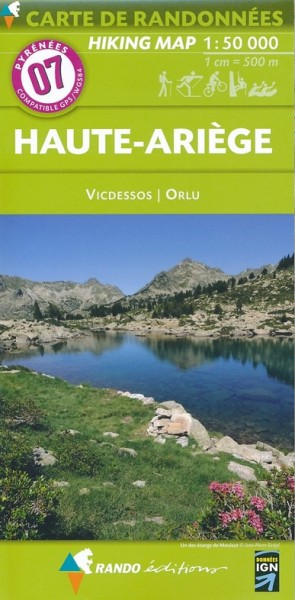 Rando Blatt 7: Haute-Ariège, Wanderkarte Pyrenäen 1:50.000