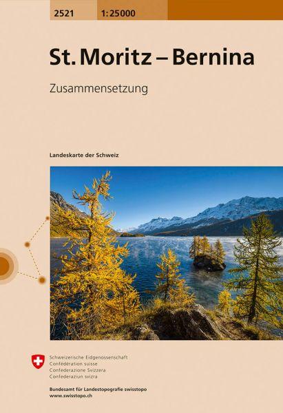 2521 St. Moritz - Bernina topographische Wanderkarte Schweiz 1:25.000