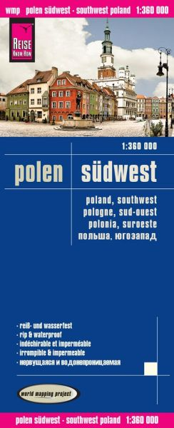 Polen Südwest Landkarte 1:360.000, Reise Know-How