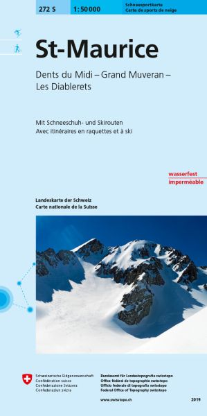 272 S St-Maurice topographische Skitourenkarte 1:50.000