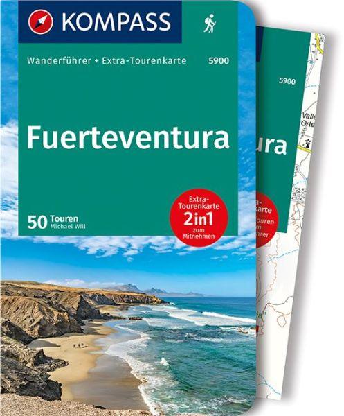 Fuerteventura mit Karte, Kompass Wanderführer
