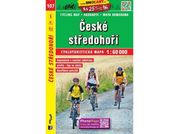 Böhmisches Mittelgebirge Radwanderkarte 1:60.000 - SHOCart 107