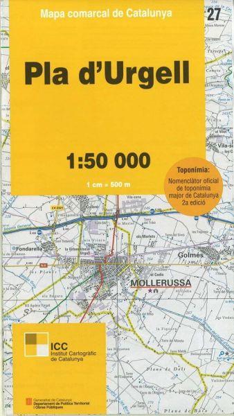Pla d'Urgell, Katalonien topographische Karte, Spanien 1:50.000, ICC 27