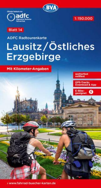 ADFC Radtourenkarte 14, Lausitz - Östliches Erzgebirge Radkarte 1:150.000