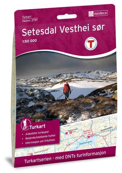 Setesdal Vesthei Süd Wanderkarte 1:50.000 – Norwegen, Turkart 2797 von Nordeca