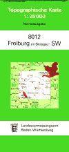 8012 FREIBURG SÜDWEST topographische Karte 1:25.000 Baden-Württemberg, TK25