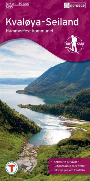 Kvaloya / Kvaløya Wanderkarte 1:50.000 – Norwegen, Turkart 2633 von Nordeca