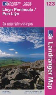 Landranger 123 Lleyn Peninsula / Pen Llŷn Wanderkarte 1:50.000 - OS / Ordnance Survey