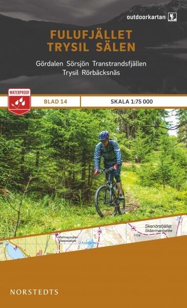 Fulufjället - Trysil - Sälen, Outdoorkartan Blatt 14, Schweden Wanderkarte 1:75.000