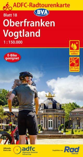 ADFC Radtourenkarte 18, Oberfranken - Vogtland Radwanderkarte 1:150.000