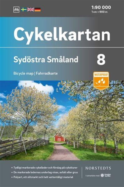 Südost Smaland, 1:90.000, Radkarte Schweden, Norstedts