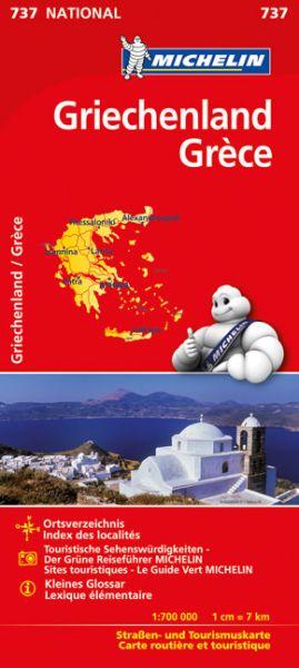 Michelin 737 Griechenland Straßenkarte, 1:700.000