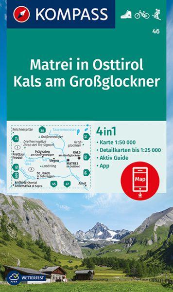 Kompass Karte 46, Matrei in Osttirol 1:50.000, Wandern, Rad fahren